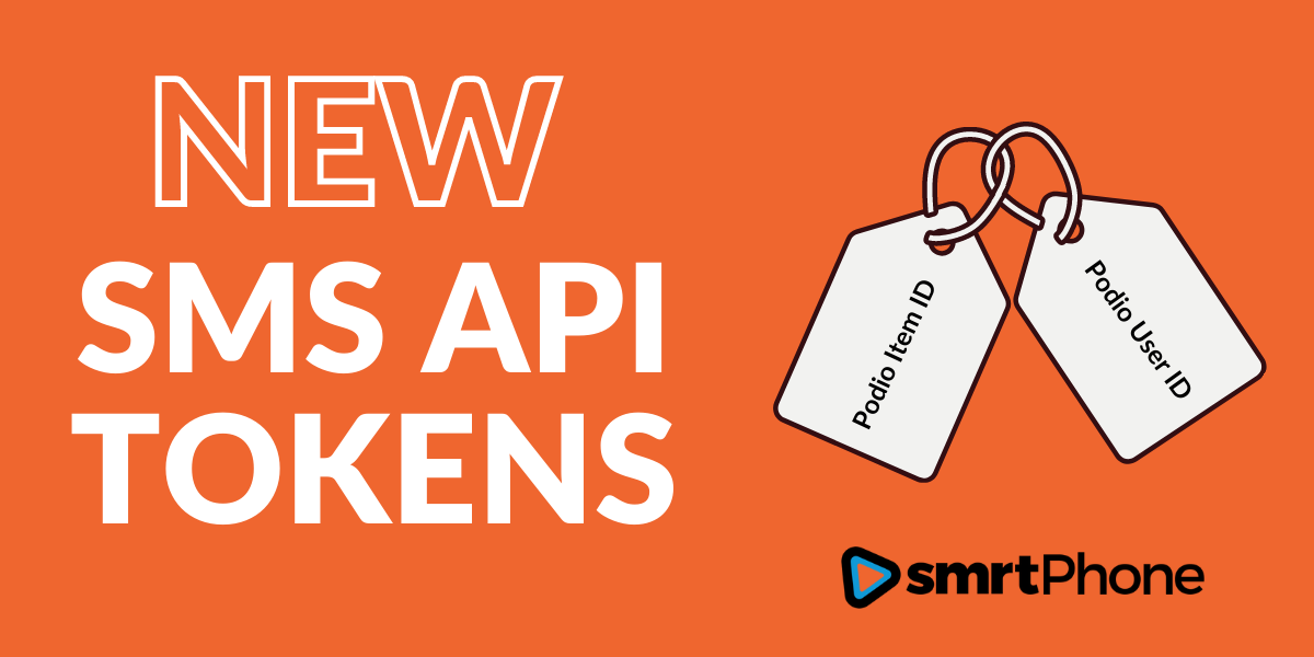 New sms API Tokens in Podio